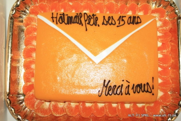 Birthday cake won during the context: Hotmail celebrates 15 years