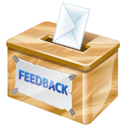 Letter sent in a box containing feedback