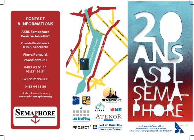 Flyer: ASBL Sémaphore fête ses 20 ans (1/2)
