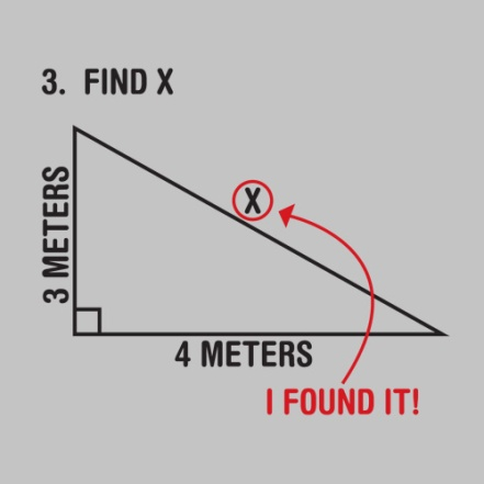 Find X... I Found it - Search for the Hypotenuse