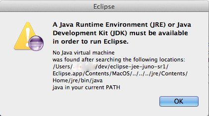 Eclipse not working on MAC OSX – No java virtual machine was