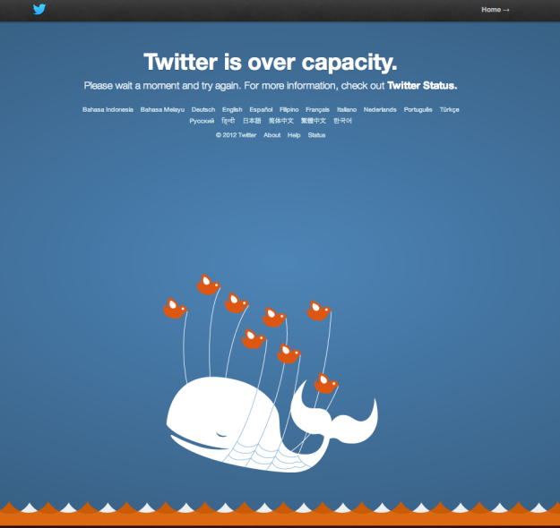 Twitter is over capacity