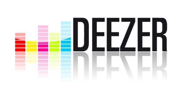 Deezer logo, white background