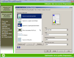 HP laser video optimizer quality