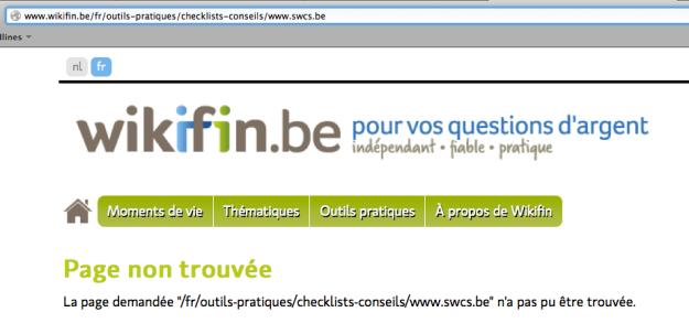 URL mal encodée - credits: www.wikifin.be