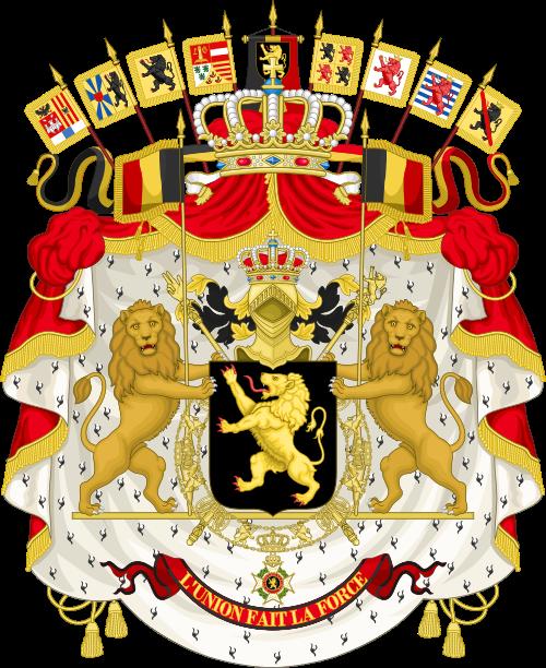 Les grandes armoiries du Royaume de la Belgique - source: wikimedia.org