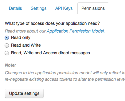 Twitter Apps - Permissions